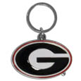 Georgia Bulldogs Enameled Key Chain